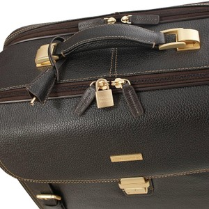 Brooks Brothers Travel Trolley Leather Laptop Bag