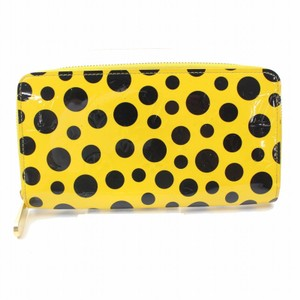 Louis Vuitton Louis Vuitton Kusama Dots Infinity Yellow Vernis Zippy Wallet 11145