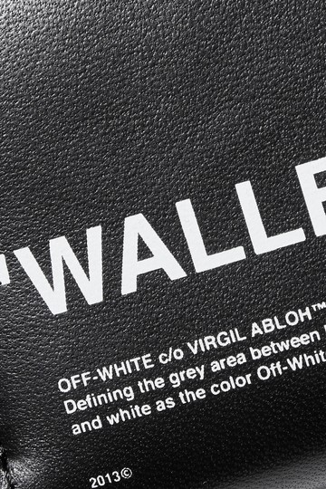 Off-White Printed textured-leather wallet