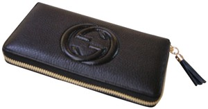 Gucci NEW AUTHENTIC GUCCI BLACK SOHO LEATHER WALLET