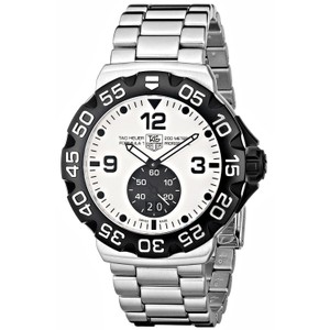 TAG HEUER Formula One WAH1011 Stainless Steel White Face Dial Quartz Men's Watch