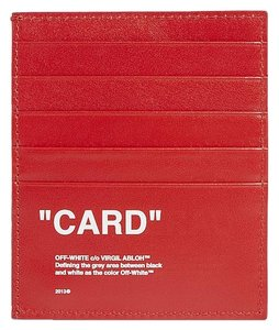 Off-White™ OFF-WHITE C/O VIRGIL ABLOH Quote leather card holder