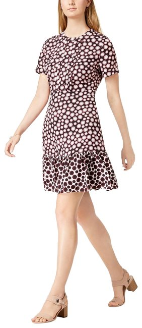 Maison Jules Black Combo Printed Flounce-hem Short Casual Dress Size 4 (S) Maison Jules Black Combo Printed Flounce-hem Short Casual Dress Size 4 (S) Image 1