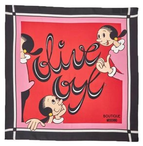 Boutique Moschino Olive Oyl printed scarf