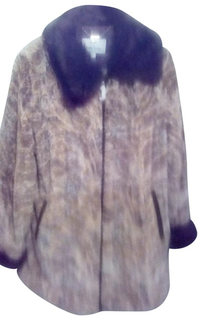 Item - Taupe& Chocolate Sterling Coat Size 20 (Plus 1x)