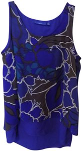 Apt. 9 Slit High Low Shell Dressy Top Blue