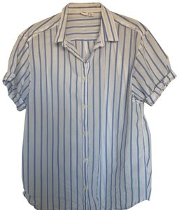 Gap Button Down Shirt white striped