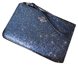 Coach Wristlet in Navy Blue