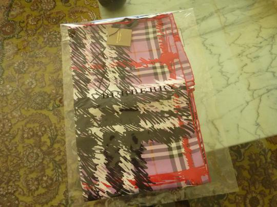 Burberry $420 Burberry Silk Twill Scribble Vintage Check Scarf Image 3