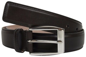0bb3624018a Gucci Dark Brown Leather Belt with Classic Square Buckle 95 38 336831 2140