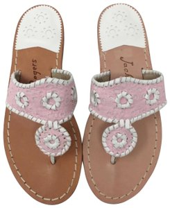 Jack Rogers Pink & White Sandals
