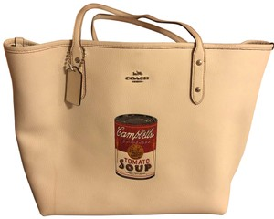 Coach 1941 Vintage Andy Warhol Leather Computer Tote in beige