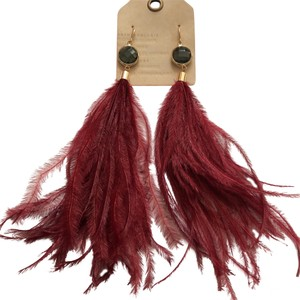 Anthropologie Ostrich Feathers Drops