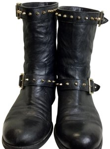Jimmy Choo Studded Leather Black Boots