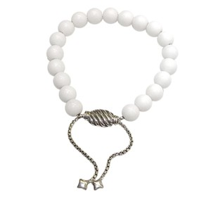 "David Yurman GORGEOUS!!! David Yurman White Agate Spiritual Beads Bracelet 8mm White Agate Beads 5.8""-9.8"" adjustable 100% Authentic Guaranteed!! Comes with Original David Yurman Pouch!!!"