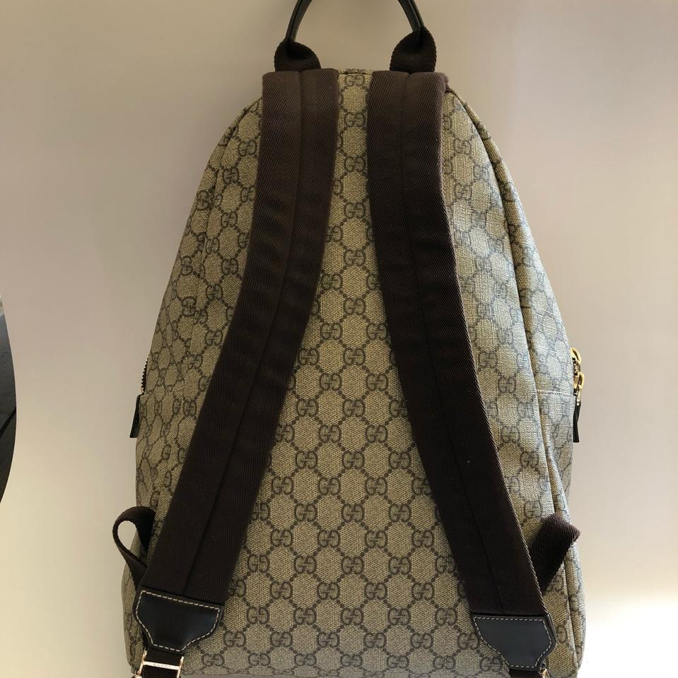 16fd3474bd58d3 Gucci Classic Gg Beige and Brown Supreme Canvas Leather Backpack - Tradesy