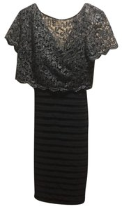Betsy & Adam Vintage Lace Fitted Dress