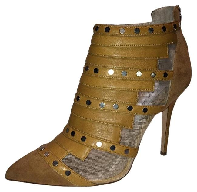 Item - Camel New Studded Leather Clear Mesh Boots/Booties Size EU 36 (Approx. US 6) Regular (M, B)