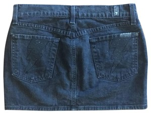 7 For All Mankind Mini Skirt Washed Black