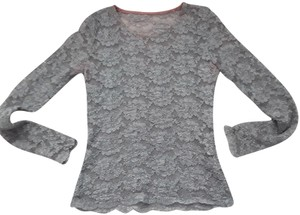 Rina Rossi Lace Top Gray