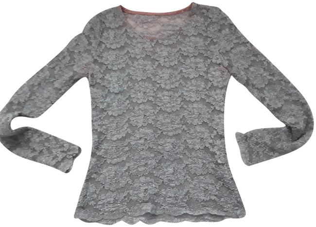 Item - Long Sleeve Lace Gray Top