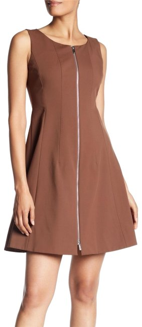 Item - Brown Zippered Mid-length Casual Maxi Dress Size 12 (L)