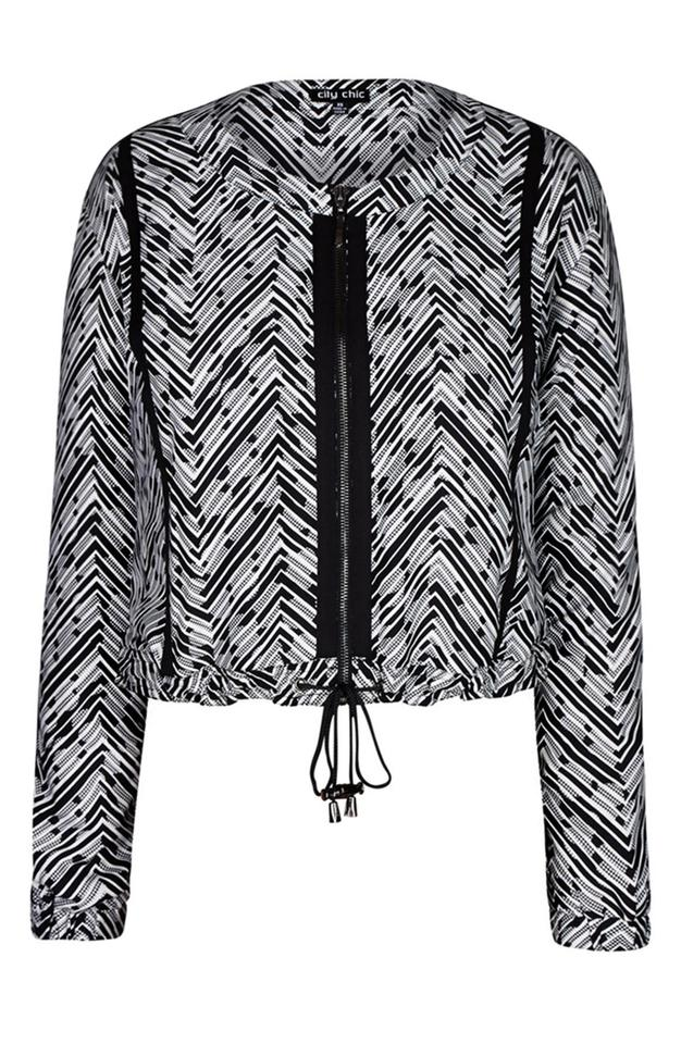 2a737af0e60 City Chic Black (L) Tribal Bomber Jacket Size 20 (Plus 1x) - Tradesy
