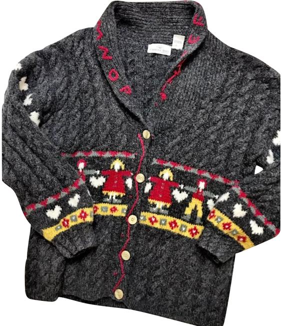 Item - Vintage Holding Hands Nordic Gray Sweater