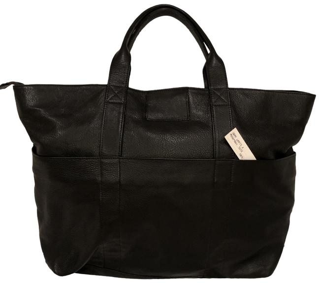 Item - Backpack Zippered / Convertible Black Leather Tote