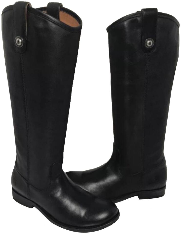 7c6ee7a99 Frye Black New Melissa Button Riding Winter Women's Boots/Booties ...