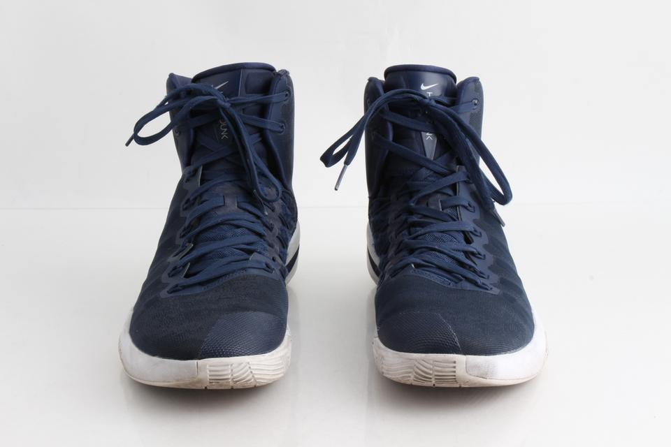 the latest 06b98 242fa Nike Blue Zoom Hyperdunk and White High Tops Shoes Image 0 ...