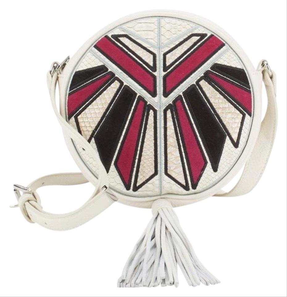 b76694026 Sam Edelman Joey Modern Ivory Multi Leather Suede and Textile Cross Body Bag
