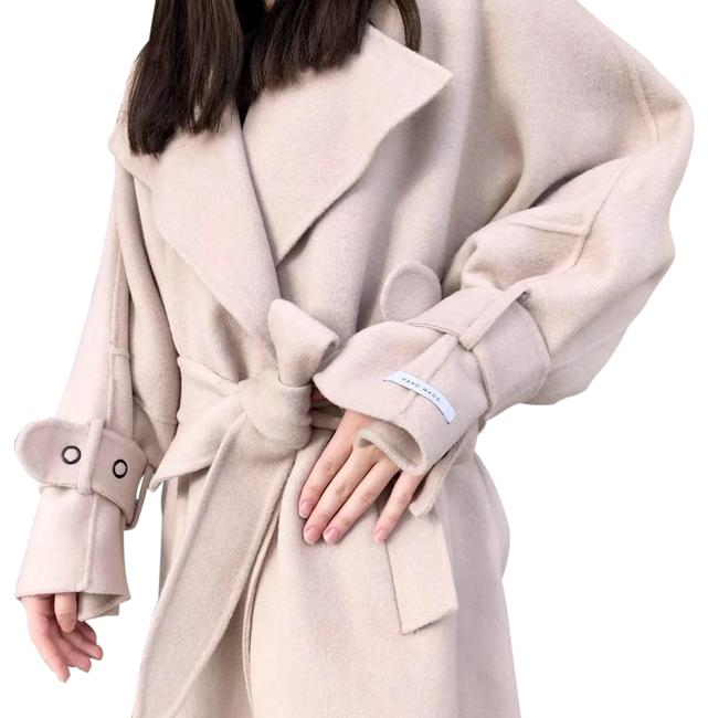 Item - Cream Hand Made Virgin Wool Coat Size OS (one size)