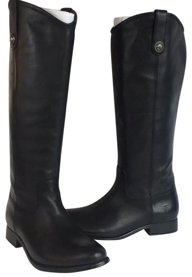 95f5cc91be1 Frye Black New Melissa Button Leather Riding Boots/Booties Size US 7.5  Regular (M, B) 51% off retail