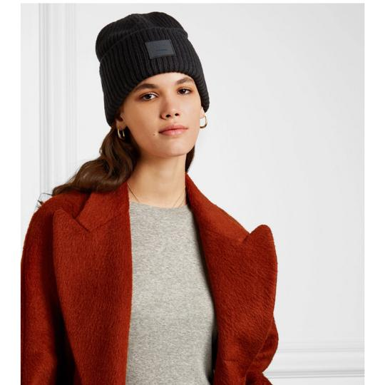 Acne Studios Pansy face appliqued ribbed wool beanie Image 1