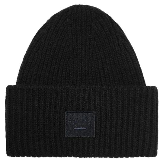 Preload https://img-static.tradesy.com/item/24451592/acne-studios-pansy-face-appliqued-ribbed-wool-beanie-hat-0-1-540-540.jpg