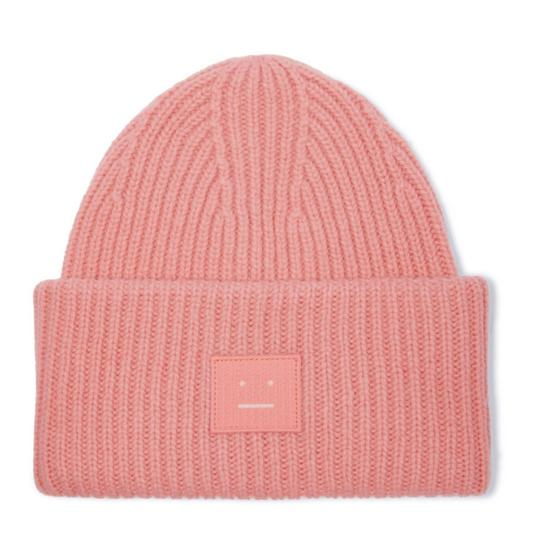 Preload https://img-static.tradesy.com/item/24451616/acne-studios-pansy-face-appliqued-ribbed-wool-beanie-hat-0-0-540-540.jpg