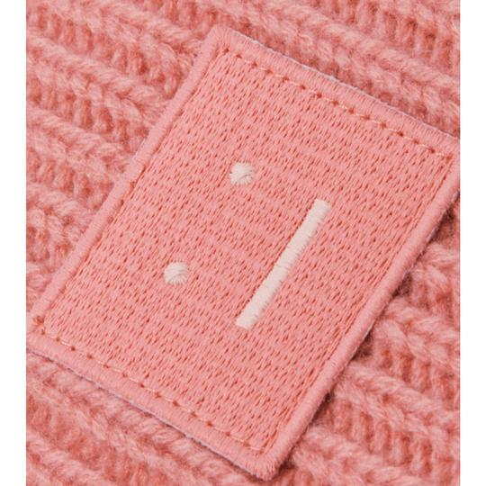 Acne Studios pansy face appliqued ribbed wool beanie Image 2