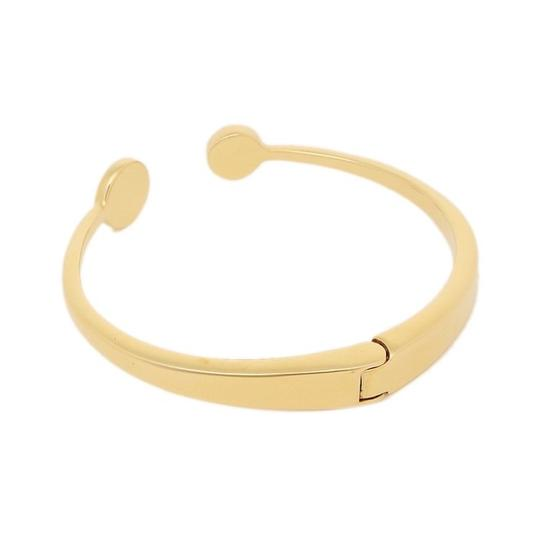 Kate Spade Kate Spade White Spot The Spade Open Hinged Cuff Image 1