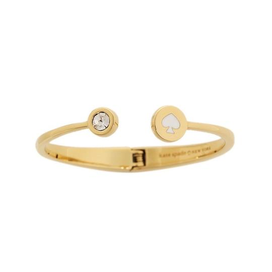 Kate Spade Kate Spade White Spot The Spade Open Hinged Cuff Image 2