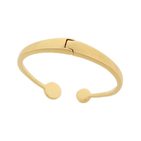 Kate Spade Kate Spade White Spot The Spade Open Hinged Cuff Image 3