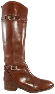 Tory Burch Knee-high Leather Riding Buckles Brown Boots