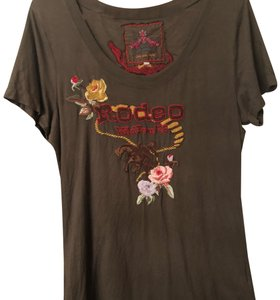 Johnny Was T Shirt chocolate brown