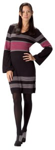 prAna short dress Black and Red Longsleeve Bell Sleeve Striped Color on Tradesy