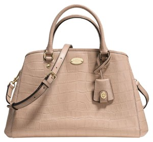 Coach Satchel in Tan, cream, nude, beige