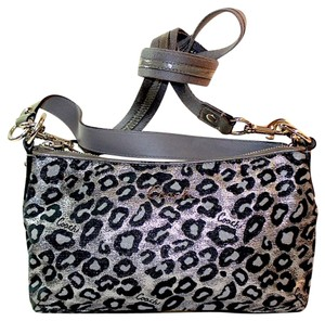 Coach Monogram Leopard Print Cross Body Bag