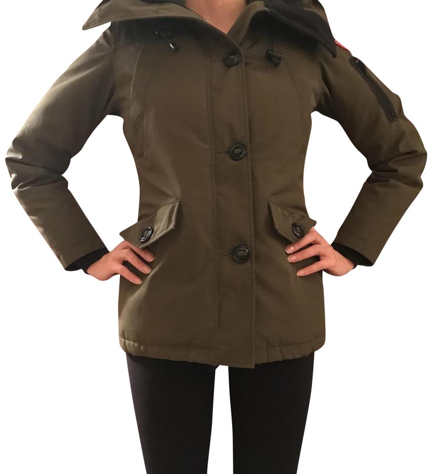 41e4673f67d Canada Goose Military Green with Pink Fox Fur Montebello Parka Coat Size 0  (XS) 25% off retail