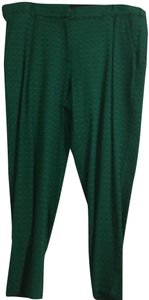 Lane Bryant Trouser Pants Green and black