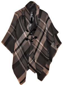 Apt. 9 Plaid Soft Raw Hem Boho Poncho Wrap