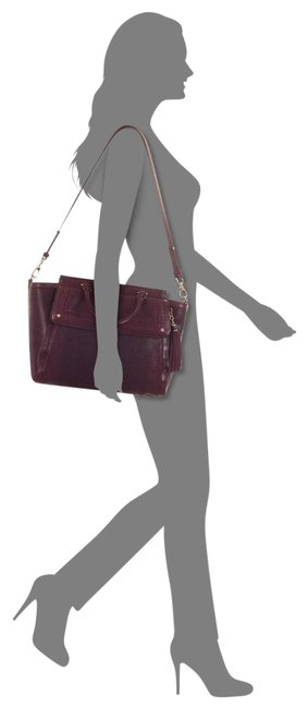 Item - Taylor Tolkien Embossed Tart (Burgundy) Leather Satchel